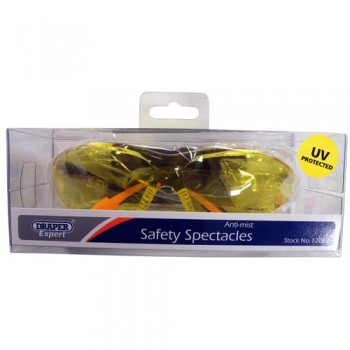 Anti mist yellow safety spectacles with UV protection
