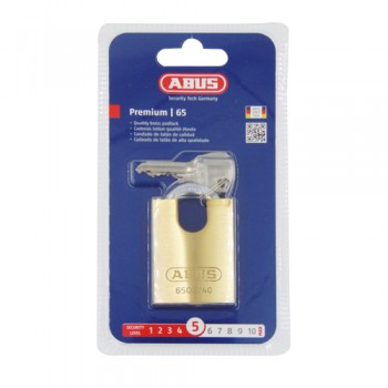 Abus 65 Series Close Shackle 40mm Brass Padlock