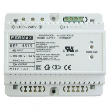 Standard Fermax 18V Power Supply Unit - Module Suitable For DIN Rail Mounting